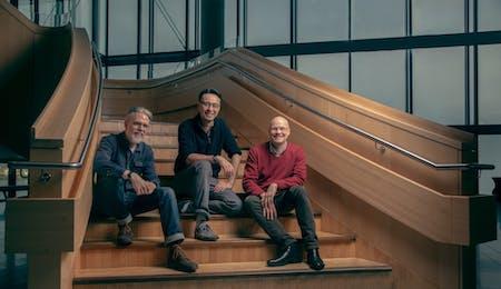 Hjalmar Kvam, Ken-David Masur og Gisle Kverndokk